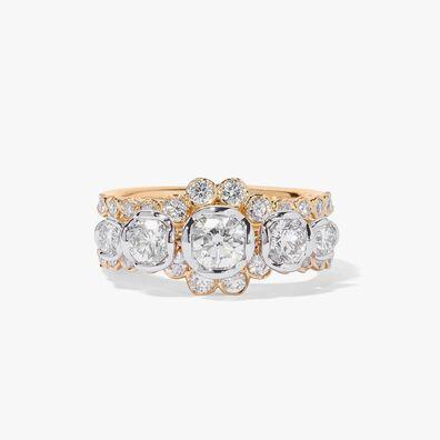 18ct Five Stone Diamond Engagement Jacket Ring