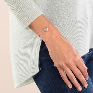 18ct White Gold Diamond Initial L Bracelet