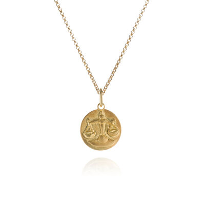 Mythology 18ct Gold Libra Necklace