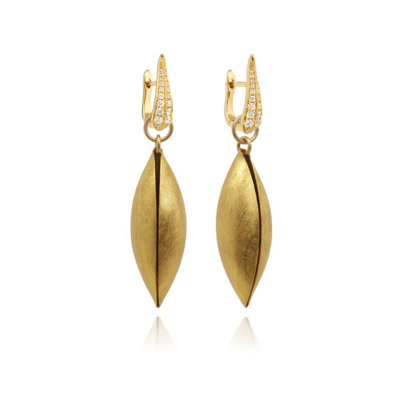 18ct Gold Diamond Seed Earrings | Annoushka jewelley