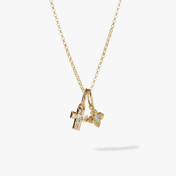 Tokens Aquamarine & White Sapphire Pendant Necklace | Annoushka jewelley