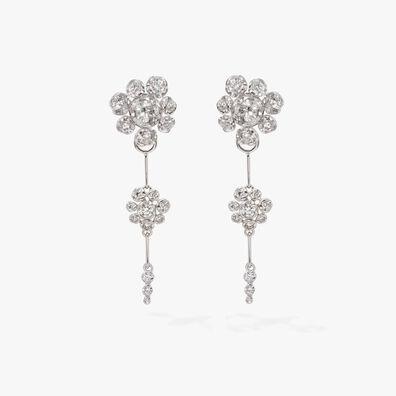 Marguerite Diamond Drop Earrings