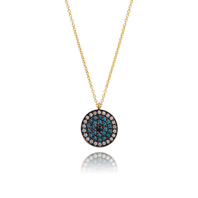 Love Diamonds 18ct Gold Diamond Evil Eye Necklace