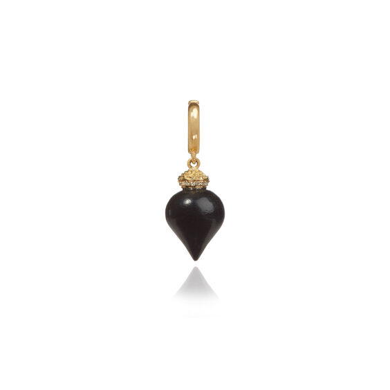 Touch Wood 18ct Gold Diamond Small Ebony Charm | Annoushka jewelley