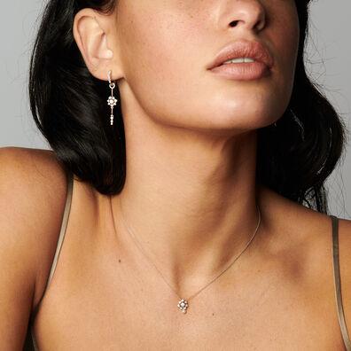 Marguerite 18ct White Gold Diamonds & Pearl Necklace