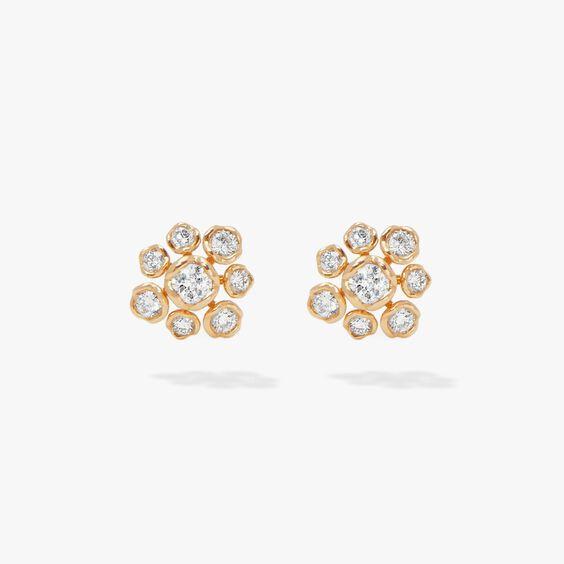 Marguerite 18ct Gold Diamond Large Stud Earrings | Annoushka jewelley