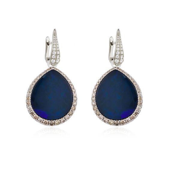 Unique 18ct White Gold Opal Earrings   Annoushka jewelley