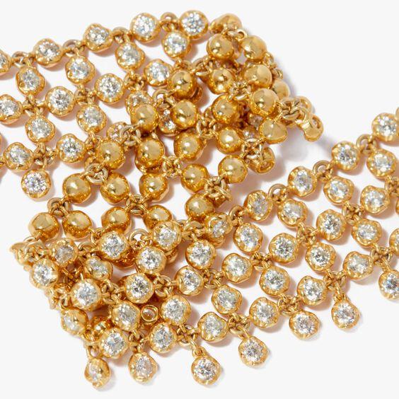 Lattice 18ct Gold Diamond Net Bracelet | Annoushka jewelley