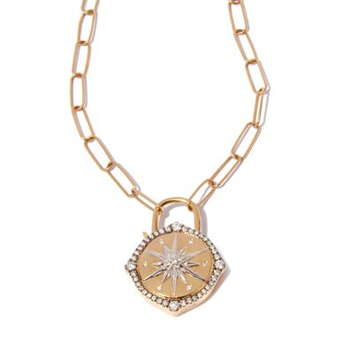 Lovelock 14ct Gold Mini Cable Chain Star Charm Necklace