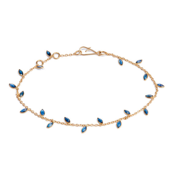 18ct Gold Sapphire Vine Leaf Bracelet | Annoushka jewelley