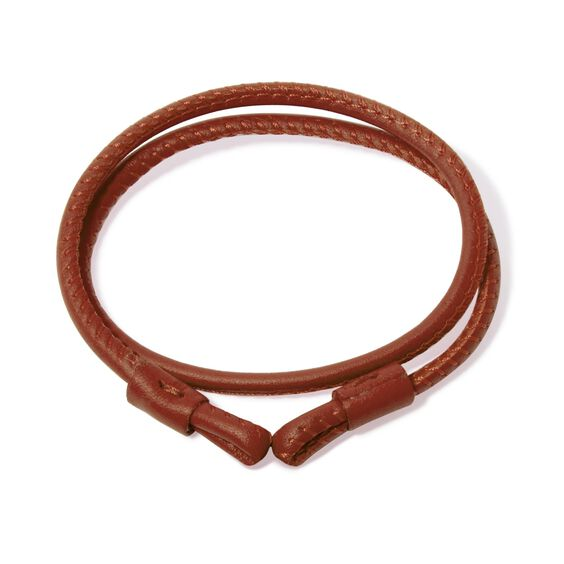 41cms Brown Leather Bracelet | Annoushka jewelley