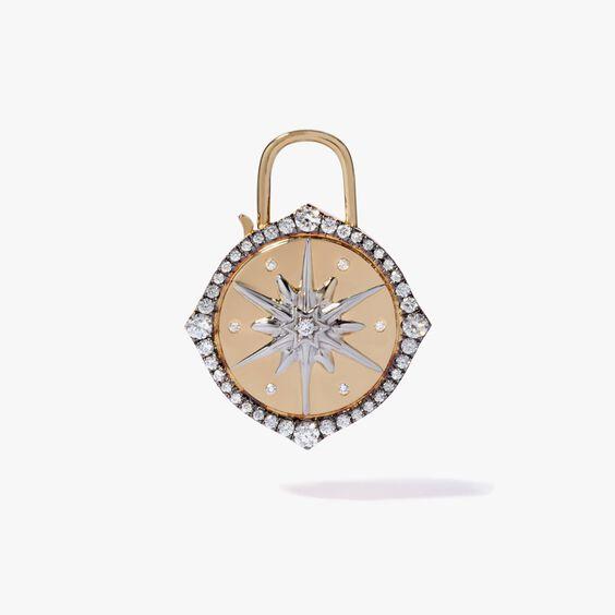 Lovelock 18ct Gold Diamond Star Medium Charm