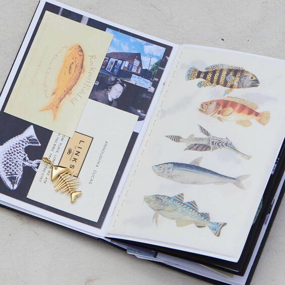18ct Gold Diamond Fish Bones Charm   Annoushka jewelley