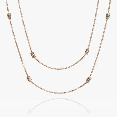 Alchemy 18ct Rose Gold Diamond Long Chain
