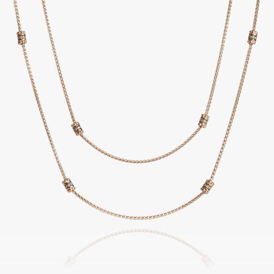 Alchemy 18ct Rose Gold Diamond Long Chain | Annoushka jewelley