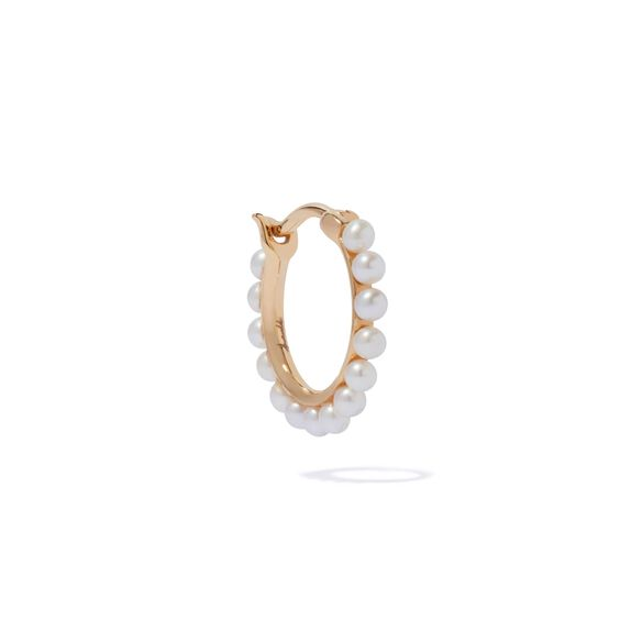 18ct Gold Pearl Hoop Earring | Annoushka jewelley