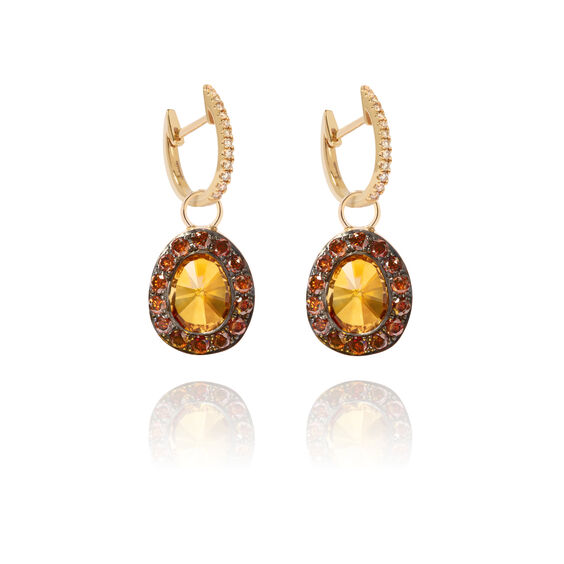 Dusty Diamonds 18ct Gold Citrine Earrings | Annoushka jewelley