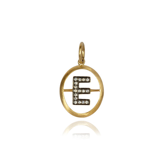 18ct Gold Diamond Initial E Pendant | Annoushka jewelley