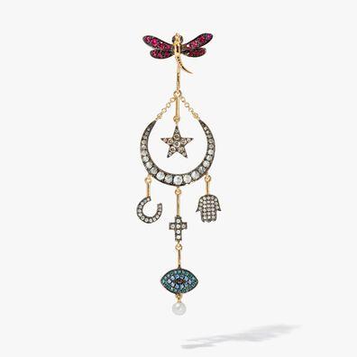 Love Diamonds 18ct Yellow Gold Diamond Lunar Left Earring