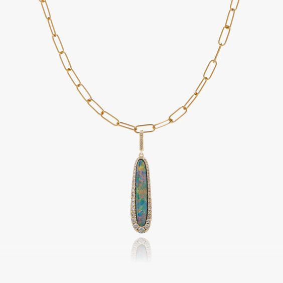 Unique 18ct Gold Opal Pendant Necklace | Annoushka jewelley