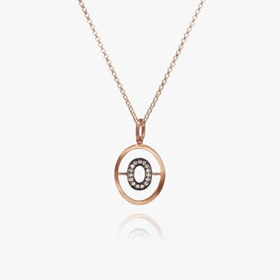 18kt Rose Gold Initial O Necklace