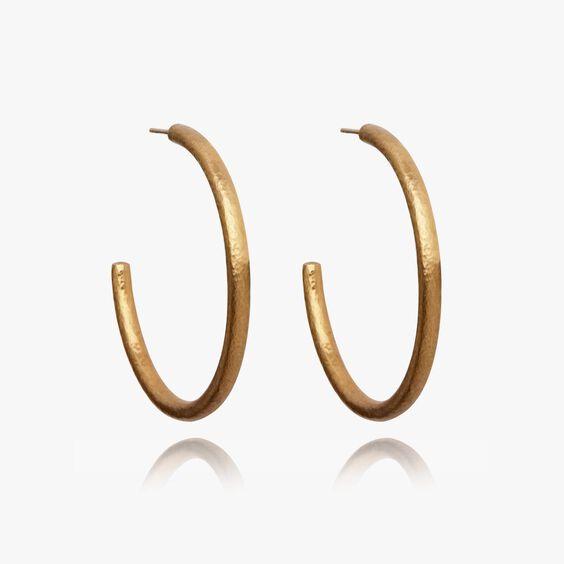 18ct Gold Organza Hoop Earrings