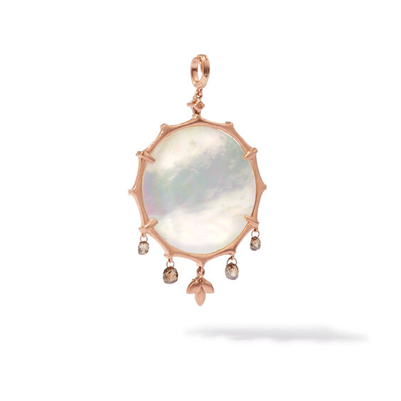 Dream Catcher 18ct Rose Gold Pearl Large Pendant | Annoushka jewelley