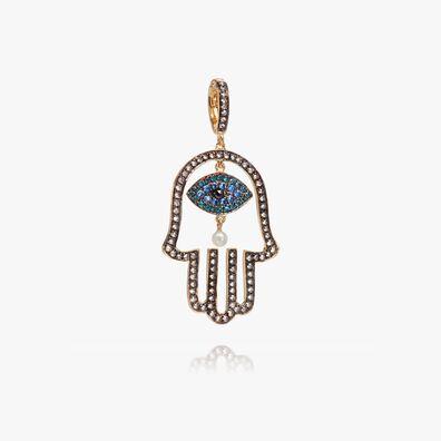 Mythology 18ct Gold Diamond Hand of Fatima Pendant