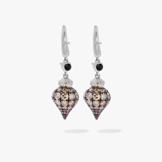 Touch Wood 18ct White Gold Diamond Earrings   Annoushka jewelley