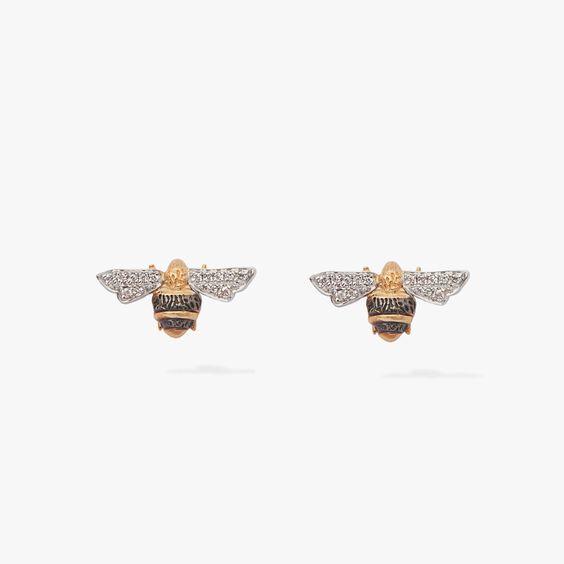 Love Diamonds 18ct Gold Diamond Bee Studs | Annoushka jewelley