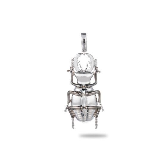 Mythology 18ct White Gold British Beetle Charm | Annoushka jewelley