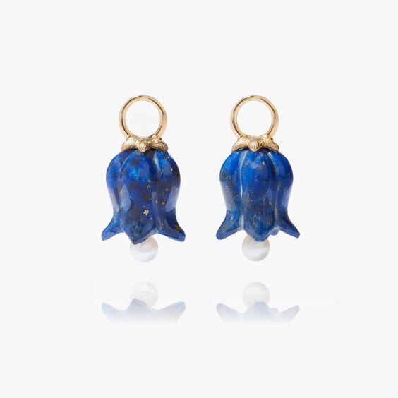 18ct Gold Lapis Lazuli Tulip Earring Drops | Annoushka jewelley
