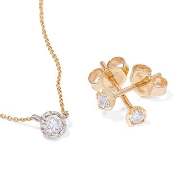 Love Diamonds 14ct Gold Solitaire Necklace