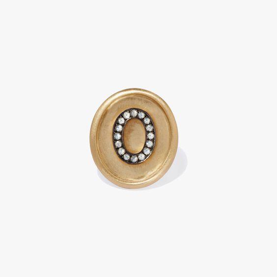 18ct Gold Diamond Initial O Face | Annoushka jewelley