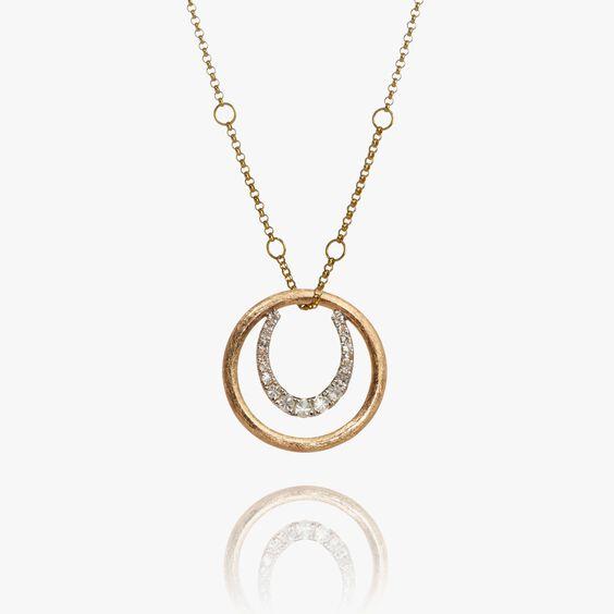 Hoopla 18ct Gold Horseshoe Necklace