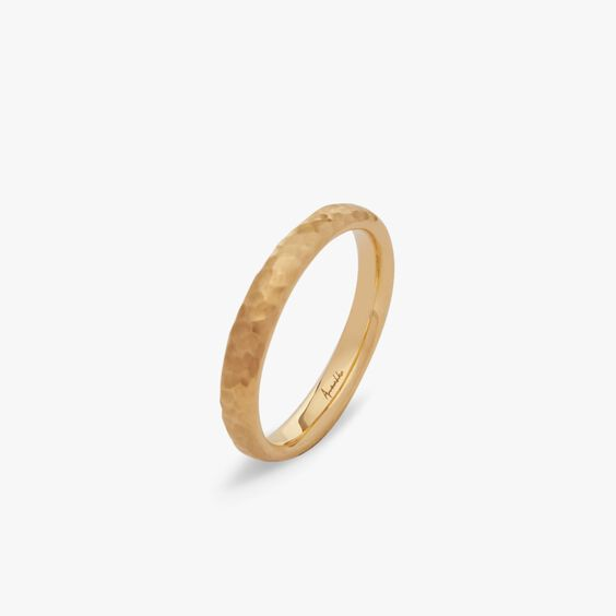 18ct Gold Organza Band Ring 3mm