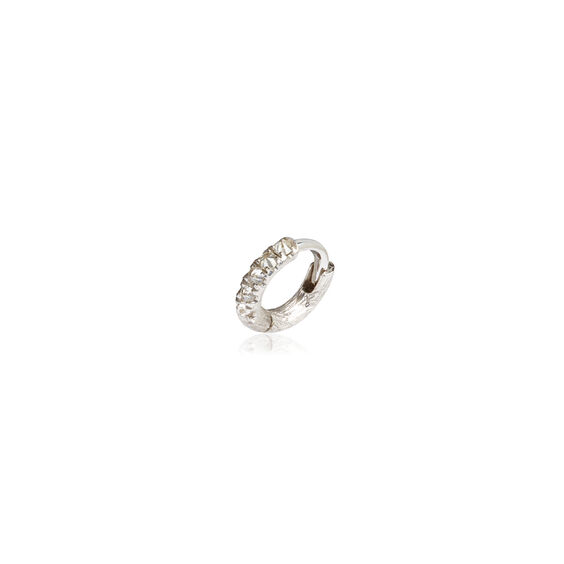 Dusty Diamonds 18ct White Gold Diamond Mini Hoop