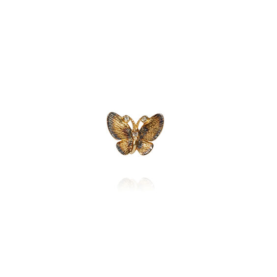 Butterflies 18ct Gold Diamond Single Stud Earring