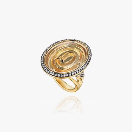 Garden Party 18ct Gold White Diamond Maze Ring | Annoushka jewelley