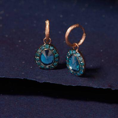 Dusty Diamonds 18ct Rose Gold Topaz Earrings