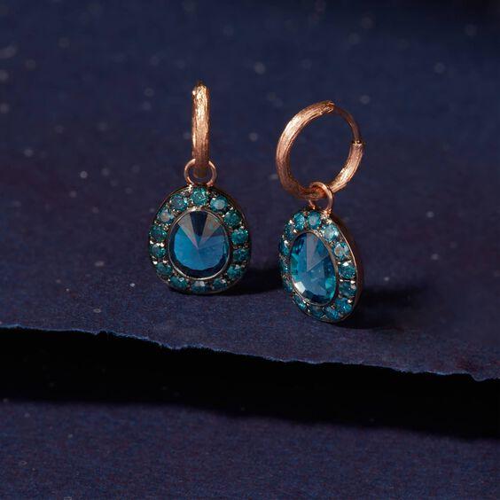 Dusty Diamonds 18ct Rose Gold Topaz Earrings | Annoushka jewelley