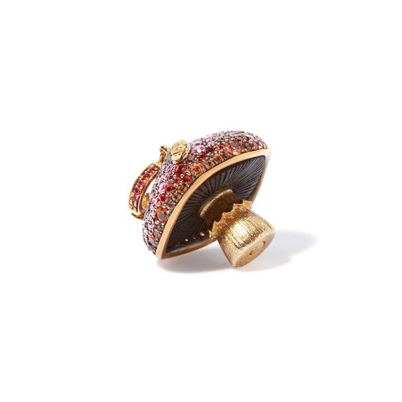 18ct Gold Ruby & Sapphire Diamond Magic Mushroom Charm | Annoushka jewelley