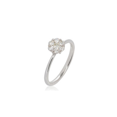 Daisy 18ct White Gold 0.5ct Diamond Ring