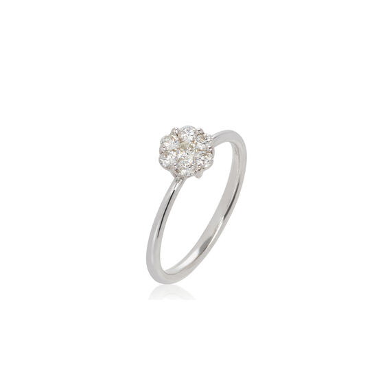 Daisy 18ct White Gold 0.5ct Diamond Ring | Annoushka jewelley
