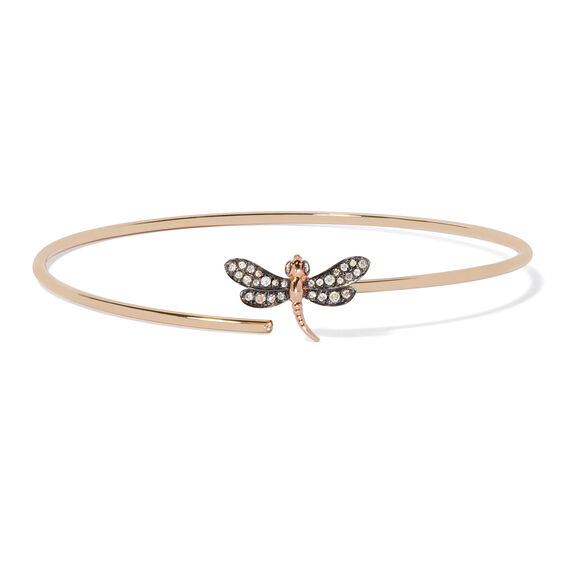 18ct Gold Diamond Dragonfly Bangle | Annoushka jewelley