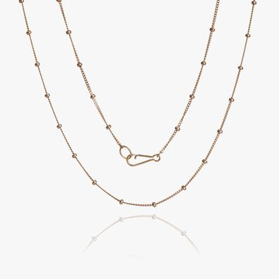 14ct Rose Gold Saturn Short Chain