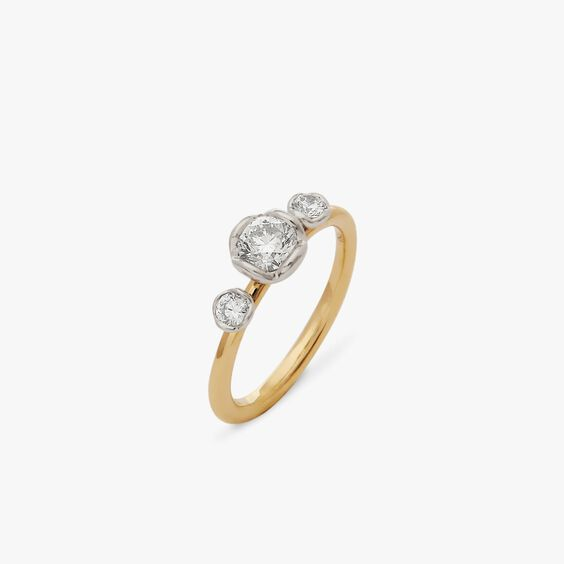 Marguerite 18ct Yellow & White Gold Three Stone 0.50ct Engagement Ring | Annoushka jewelley