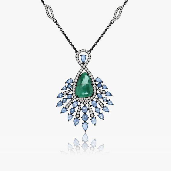 Sutra Emerald Pendant   Annoushka jewelley