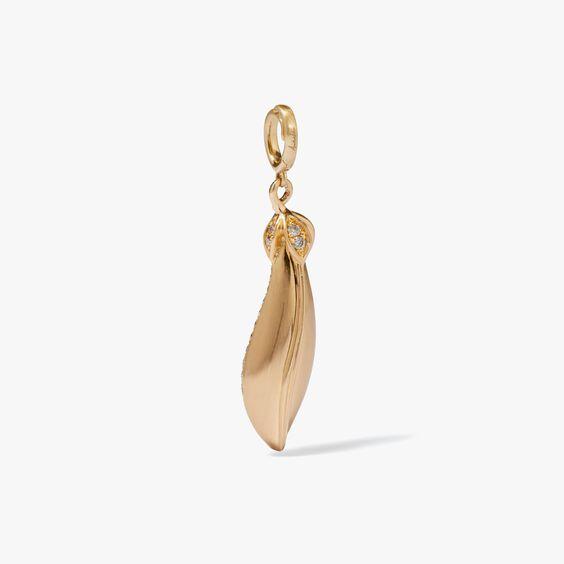 Mythology 18ct Gold Pearl Peapod Seed Charm | Annoushka jewelley