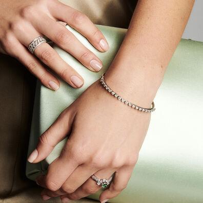 Marguerite 18ct White Gold Diamond Bangle